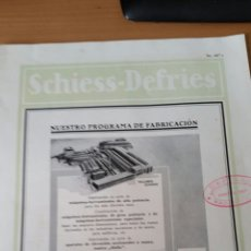 Catálogos publicitarios: CATALOGO MAQUINARIA 1930 SCHIESS-DEFRIES. Lote 71713531