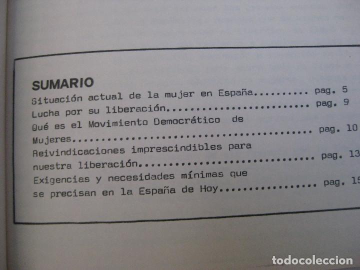 Catálogos publicitarios: INEDITO! PROGRAMA DEL MOVIMIENTO DEMOCRATICO DE MUJERES DEL PAIS VALENCIANO FEMINISMO 1976 JULIO - Foto 2 - 169231530