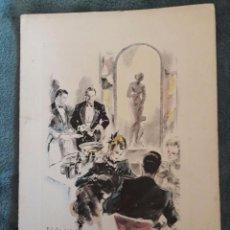 Catálogos publicitarios: CARTA-MENÚ HOTEL RITZ / RAQUEL MELLER / GALAS ARTÍSTICAS / DIBUJO DE PERE CLAPERA / 1946. Lote 72114991
