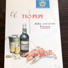 Catálogos publicitarios: DIPTICO TIO PEPE. Lote 73487055
