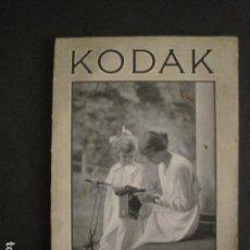 Catálogos publicitarios: CATALOGO FOTOGRAFIA - KODAK - 1921 -VER FOTOS - (V-8520). Lote 74091135