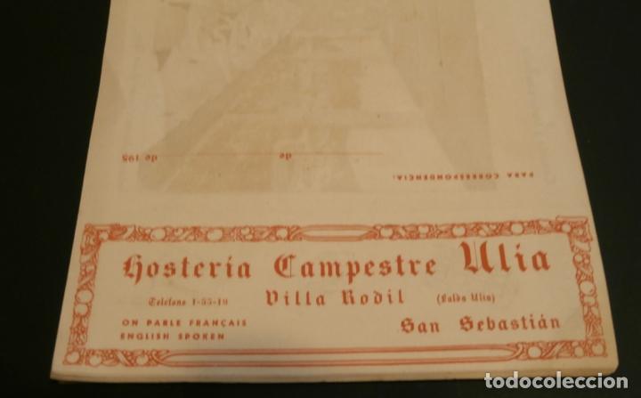 PUBLICIDAD RESTAURANTE CAMPESTRE RODIL ,SAN SEBASTIAN (Coleccionismo - Catálogos Publicitarios)