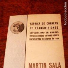 Catálogos publicitarios: CATALOGO DE MARTIN SALA FABRICA CORREAS TRANSMISIONES MANGA CORREJON SABADELL 1928 BARCELONA. Lote 76636791