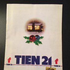 Cataloghi pubblicitari: CATÁLOGO TIEN 21 AÑO 1992.TELEVISORES, VHS, VIDEOCÁMARAS, MICROONDAS, CONSOLAS, ETC. Lote 76787459