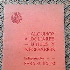 Catálogos publicitarios: CATALOGO ARTICULOS DE DENTISTA. ALGUNOS AUXILIARES UTILES Y NECESARIOS THE DENTAL MANUFACTURING 1935. Lote 77431557