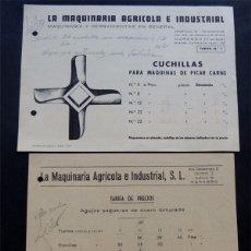 Catálogos publicitarios: LA MAQUINARIA AGRICOLA E INDUSTRIAL / DURANGO AÑOS 50 / PUBLICIDAD COMERCIAL. Lote 77831269