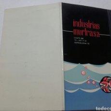 Catálogos publicitarios: INDUSTRIAS MURTRASA. BARCELONA.. Lote 77865357