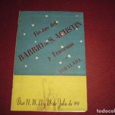 Catálogos publicitarios: ANTIGUO CATALOGO IGUALADA FIESTA DEL BARRIO DE S.AGUSTIN Y TRAVESIAS,DEL 1957. Lote 78129733