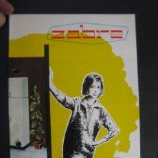 Catálogos publicitarios: CATALOGO UNICO COCINAS ZABRE. Lote 78280341