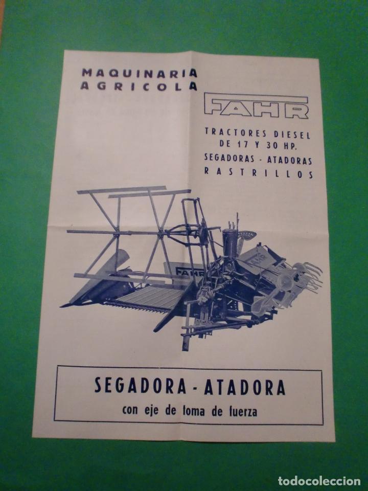 MAQUINARIA AGRICOLA FHAR SEGADORA ATADORA TIPO Z 1 - TRACTORES RASTRILLOS - 1953 (Coleccionismo - Catálogos Publicitarios)