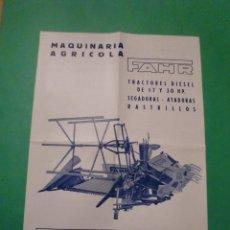 Catálogos publicitarios: MAQUINARIA AGRICOLA FHAR SEGADORA ATADORA TIPO Z 1 - TRACTORES RASTRILLOS - 1953. Lote 78317677