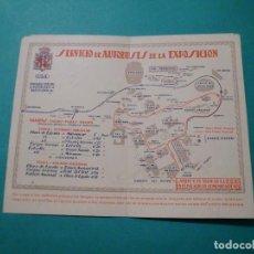 Catálogos publicitarios: PLANO DE LA EXPO. INT. DE BARCELONA DE 1929 Y DEL SERVICIO DE AUTOBUSES EN SU RECINTO - C.G.A.. Lote 78445245