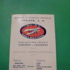 Catálogos publicitarios: DUREX ABRASIVES CORPORATION NEW YORK DISTRIBUIDOR ESPAÑA PANIKER S.A. BARCELONA 1944. Lote 78446169