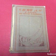 Catálogos publicitarios: CATÁLOGO CASAS DESMONTABLES DE LA COMPAÑÍA FRANCESA DE C. DUPIN Y CA., 1926, MUY RARO.. Lote 79095025