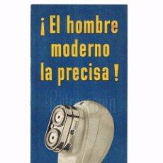 Catálogos publicitarios: CATÁLOGO DESPLEGABLE PUBLICIDAD MÁQUINA MAQUINILLA DE AFEITAR AFEITADORA PHILISHAVE PHILIPS AÑOS 50. Lote 79756205