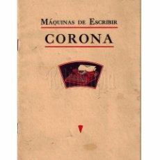 Catálogos publicitarios: CATÁLOGO PUBLICIDAD MÁQUINAS DE ESCRIBIR CORONA L. C. SMITH. AÑOS 30 . Lote 79757117