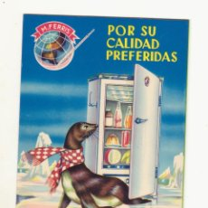 Catálogos publicitarios: ANTIGUO CATALOGO DESPLEGABLE DE NEVERAS M FERRIS AÑOS 50 ORIGINAL. Lote 79781113