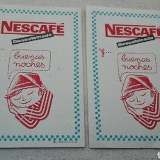 Catálogos publicitarios: NESCAFÉ DESCAFEINADO VALES 10 PESETAS AÑO 1962. Lote 35008647