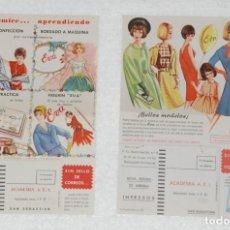 Catálogos publicitarios: PUBLICIDAD CURSO EVA CORTE Y CONFECCIÓN ACADEMIA AEI 1962. Lote 80237777