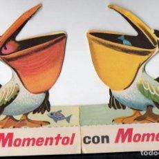 Catálogos publicitarios: TARJETÓN TROQUELADO PUBLICIDAD CON Y SIN MOMENTOL. Lote 80336565