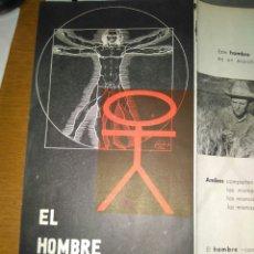Catálogos publicitarios - FOLLETO PUBLICIDAD EL HOMBRE Y LA HUMANIDAD PRESENTACION EXPOSICIÓN CASA AMERICANA EMBAJADA EN ESPAÑ - 81843043