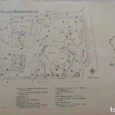 Catálogos publicitarios: ANTIGUO PLANO FERIA DE MUESTRAS IBEROAMERICANAS.SEVILLA.AÑOS 60,70. Lote 82131484