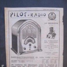 Catálogos publicitarios: CATALOGO RADIO - PILOT RADIO - BARCELONA- PUBLICIDAD UNA SOLA HOJA -VER FOTOS-(V-10.437). Lote 82491968