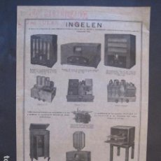 Catálogos publicitarios: CATALOGO RADIO - INGELEN - BARCELONA- PUBLICIDAD UNA SOLA HOJA -VER FOTOS-(V-10.438). Lote 82492080