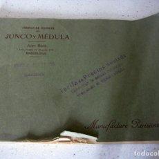 Catálogos publicitarios: CATALOGO PUBLICITARIO JUNCO Y MEDULA - BARCELONA . Lote 83736088
