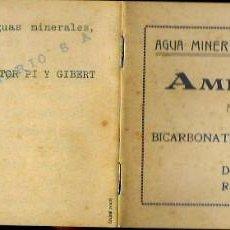 Catálogos publicitarios: FOLLETO AÑO 1916 * AGUA MINERO-MEDICINAL AMER PALATIN * FUENTE PICANTE AMER (GIRONA). Lote 83823516