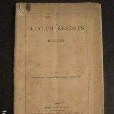 Catálogos publicitarios: CATALOGO BALNEARIOS -HEALTH RESORTS BUXTON - AÑO 1896 -VER FOTOS (V-10.653). Lote 83947336