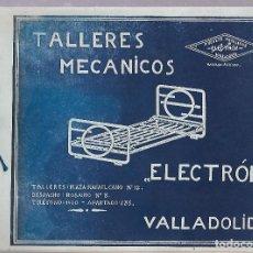 Catálogos publicitarios: CATALOGO TALLERES MECANICOS. ELECTRON. VALLADOLID. CON LISTA DE PRECIOS. VER FOTOS. Lote 84586000
