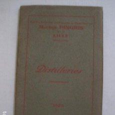 Catálogos publicitarios: DESTILERIAS - MAURICE PINGRIS - CATALOGO PUBLICITARIO AÑO 1926 -VER FOTOS -(V-10.739). Lote 84743820