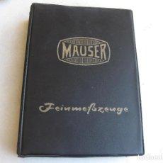 Catálogos publicitarios: CATALOGO DE HERRAMIENTAS DE PRECISION DE LA MARCA MAUSER - 1963. Lote 84977456