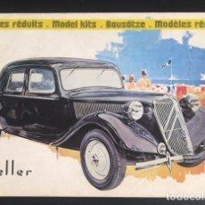 Catálogos publicitarios: CATALOGO DE MAQUETAS MODELISMO HELLER 1977. Lote 85905928