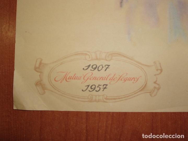 Catálogos publicitarios: ANTIGUO CARTEL MUTUA GENERAL DE SEGUROS, CINCUENTA ANIVERSARIO 1907 -1957 - Foto 3 - 86035628