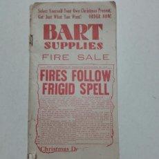 Catálogos publicitarios: BART SUPPLES. CATALOGO 1930. MATERIALES DIBUJO.. Lote 86261771