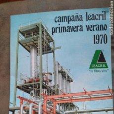 Catálogos publicitarios: GRAN DIPTICO PUBLICIDAD LEACRIL CAMPAÑA PRIMAVERA-VERANO 1970 - ACSA ESPAÑOLA BARCELONA. Lote 86871555