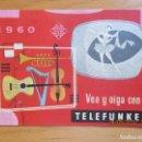 Catálogos publicitarios: TELEFUNQUEN -CATALOGO PUBLICITARIO, 1960. Lote 87346528