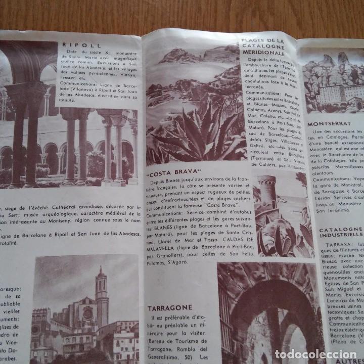 Barcelona Folleto Turismo Excursiones De Un Comprar Catálogos