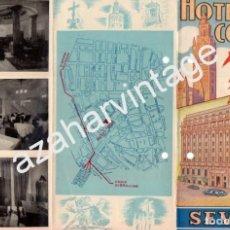 Catálogos publicitarios: ANTIGUO TRIPTICO PUBLICITARIO DEL HOTEL COLON DE SEVILLA. Lote 87542832