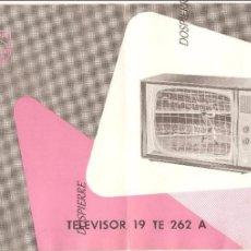 Catálogos publicitarios: PHILIPS, TELEVISOR 19 TE 262 A, MODO DE EMPLEO, PUBLICIDAD. Lote 87548436