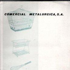 Catálogos publicitarios: CATÁLOGO COMERCIAL METALÚRGICA, BARCELONA. Lote 87564804