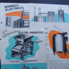 Catálogos publicitarios: CONSTRUCTORA ELECTRO - MAGNEICA - LEGAZPIA 1956 / 4 HOJAS PUBLICIDAD DE MAQUINAS Y CARACTERISTICAS. Lote 87598180