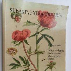 Catálogos publicitarios: CATALOGO DE SUBASTA EXTRAORDINARIA SOLER Y LLACH. 3 DE MARZO DEL AÑO 2005.. Lote 88366024