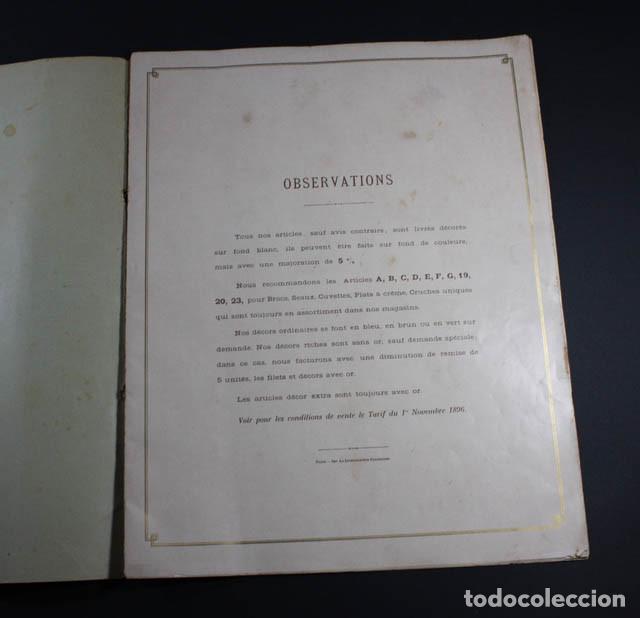 Catálogos publicitarios: PRECIOSO Y MUY RARO CATALOGO ALBUM DECORACIONES PARA ARTICULOS ESMALTADOS, JAPY FRERES 1897, RELOJ - Foto 2 - 88778200