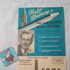 Catálogos publicitarios: FOLLETO PUBLICIDAD CEAC CON FOTO DE WALT DISNEY. Lote 88988903