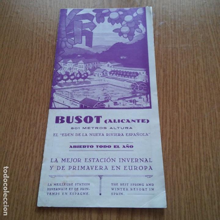 BUSOT - ALICANTE - 501 METROS ALTURA - EL EDEN DE LA NUEVA RIVERA ESPAÑOLA - VER FOTOS - ALGO OXIDO (Coleccionismo - Catálogos Publicitarios)