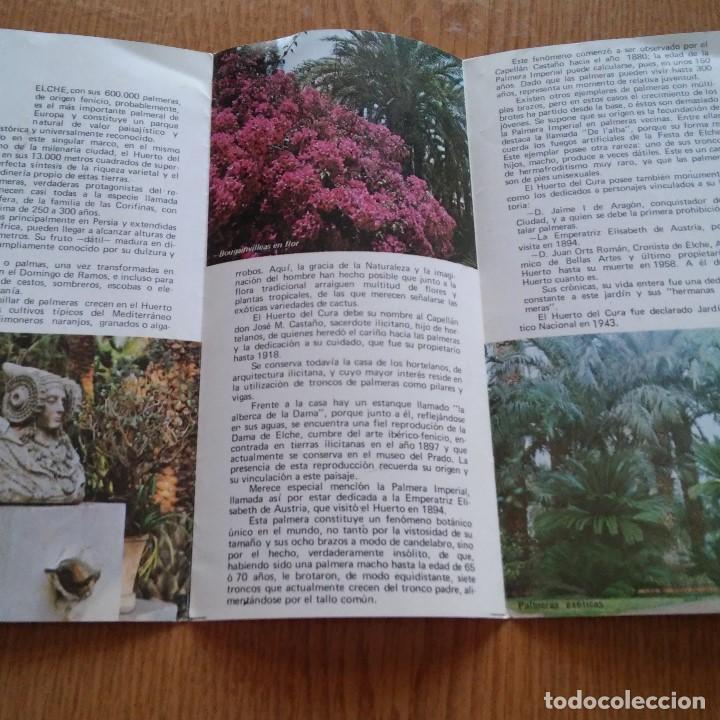 Catálogos publicitarios: EL HUERTO DEL CURA - JARDIN ARTISTICO NACIONAL - 1973 - HELCHE - ALICANTE - Foto 2 - 89439084