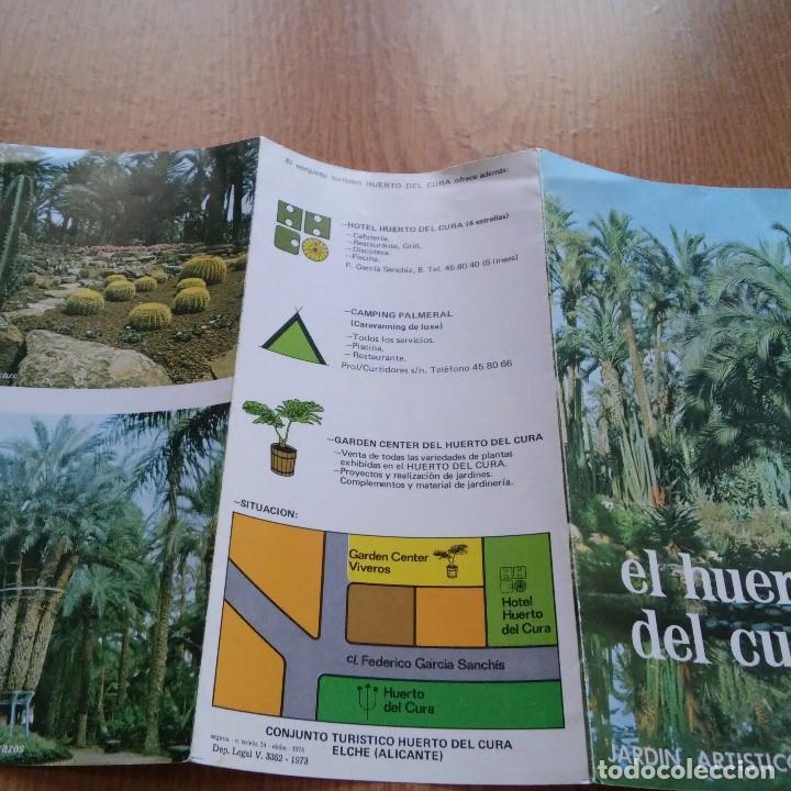 Catálogos publicitarios: EL HUERTO DEL CURA - JARDIN ARTISTICO NACIONAL - 1973 - HELCHE - ALICANTE - Foto 3 - 89439084